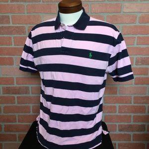 Men's Polo Ralph Lauren shirt pink striped (3U41)